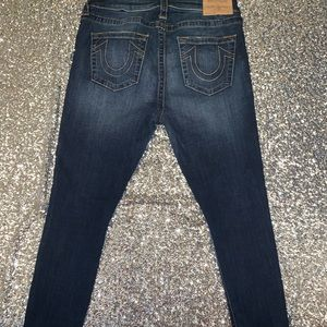True Religion sequins patch Jeans